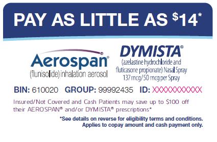 Dymista discount coupons